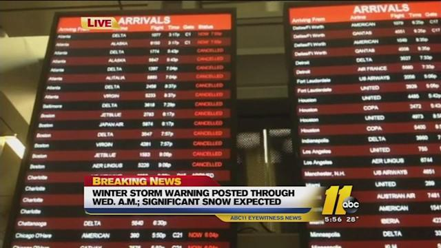 Flight delays and cancellations at RDU