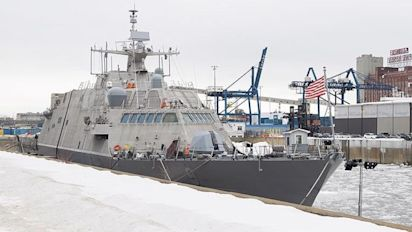 New U.S. warship stuck in Montreal due to ice