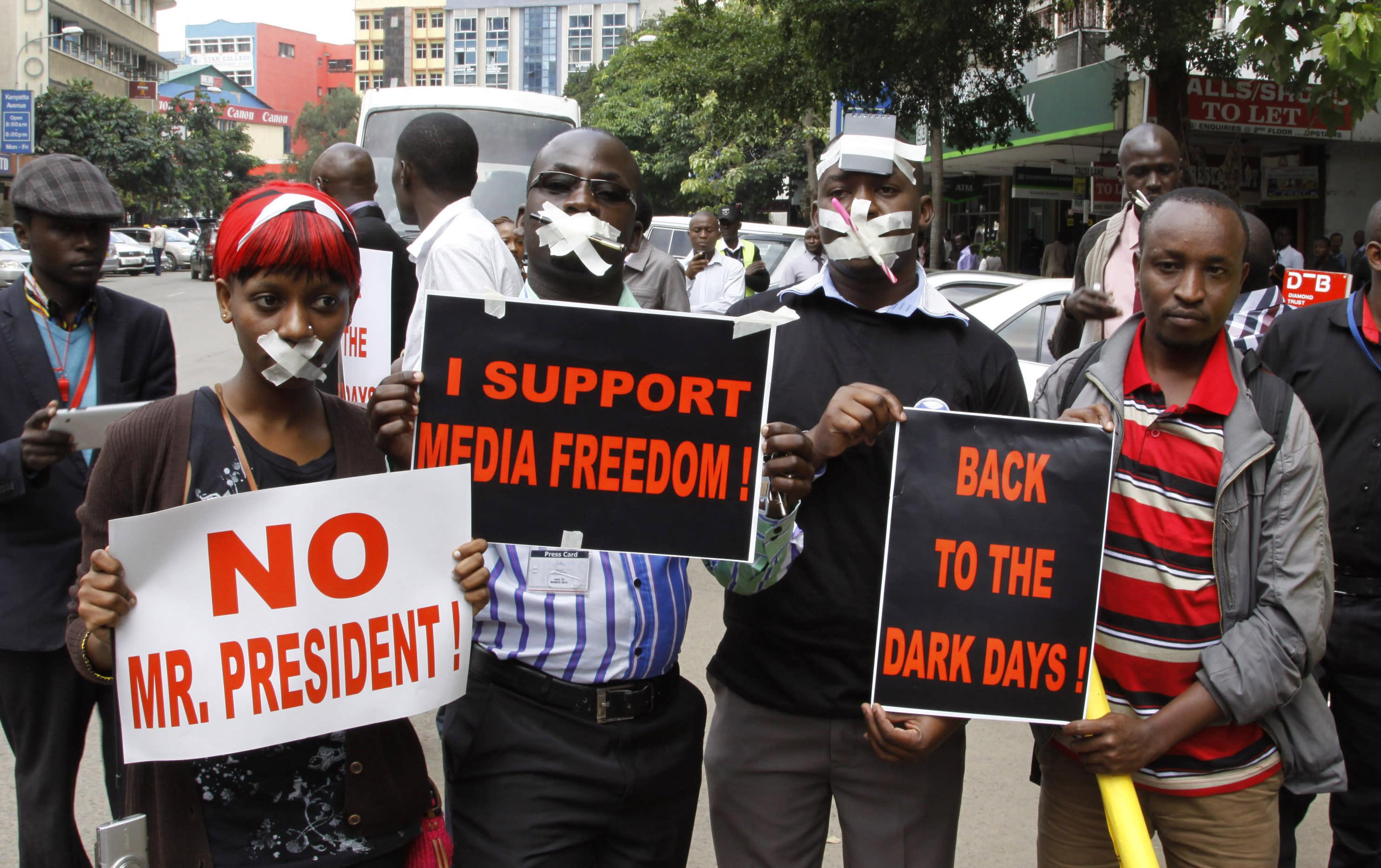 kenyan demonstrators
