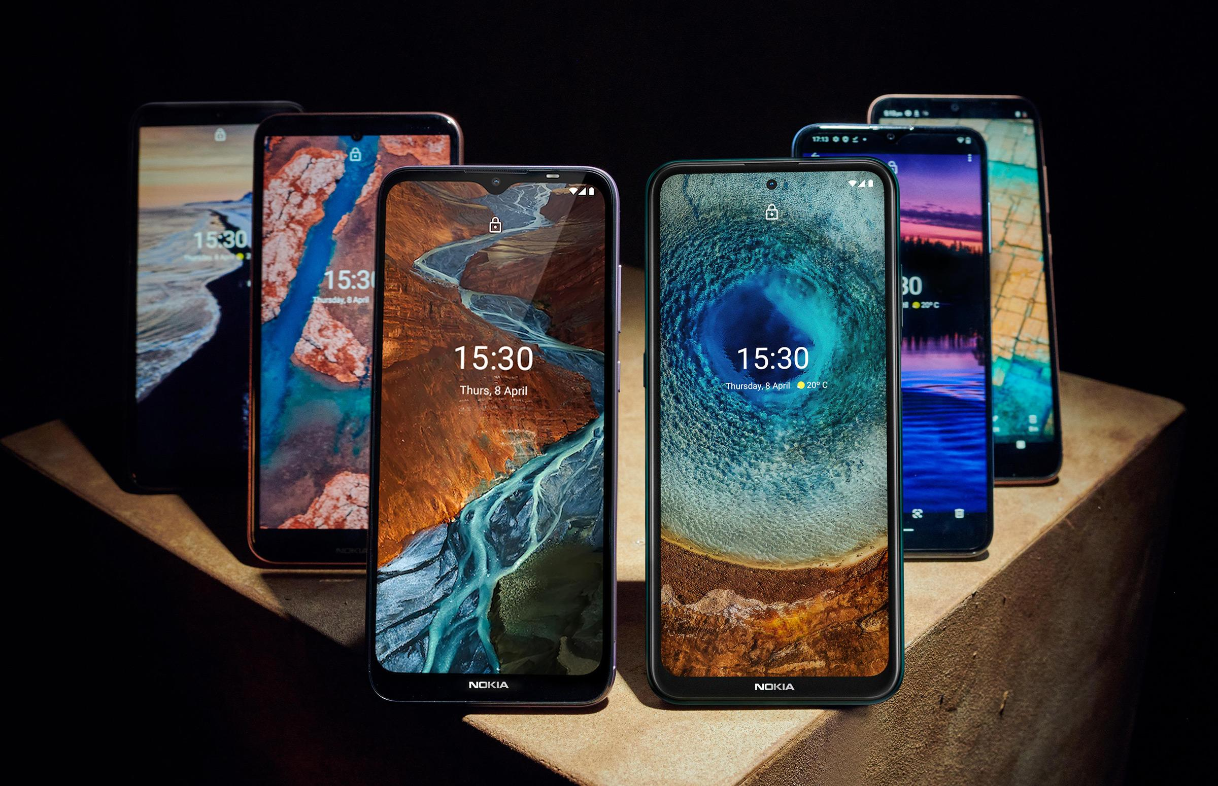 Nokia X, G, and C-series smartphones
