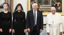 Twitter Is Joking About Melania Trump's Look at the Vatican. Is It Inappropriate?