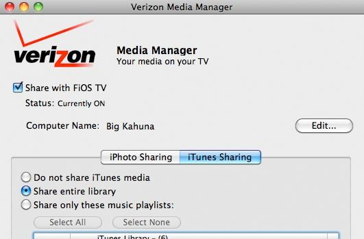 Media Manager for Mac enables iPhone / iTunes media streaming to FiOS TV DVR (video)