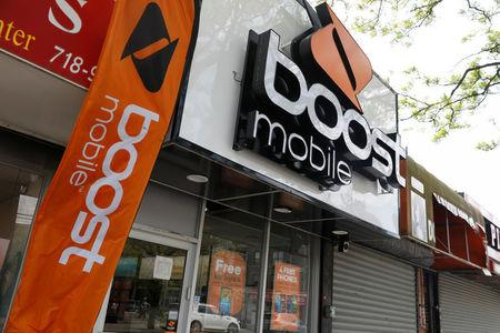 The storefront of a Boost mobile phone store is seen in the Brooklyn borough of New York