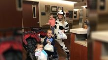 This mom dressed up as a cow to donate her breast milk to NICU babies