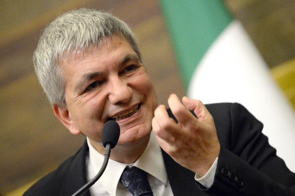 """Nichi Vendola, leader of Italy's opposition 'Left, Ecology and Liberty' party (pictured), has vowed to """"show our solidarity with the Greek people as they confront... the social butchery ordered by Brussels and blessed by Berlin"""" (AFP Photo/Andreas Solaro)"""