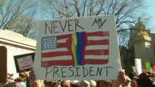 Anti-Trump rallies crop up again on 'Not My President's Day'