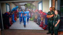 Stunning garage door artwork hails NHS staff as 'the real superheroes'