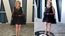 Martha Stewart, 78, shares secret behind slim legs following Oscars party miniskirt