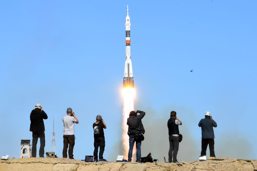 The Soviet-designed Soyuz rocket failed on October 11 just minutes after blast-off (AFP Photo/Kirill KUDRYAVTSEV)