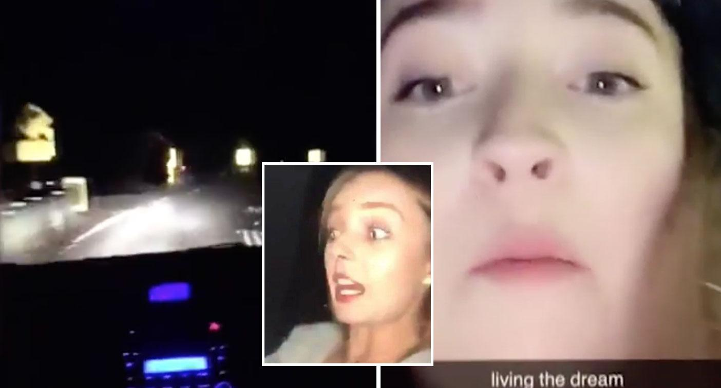Snapchat stupid: Teen driver livestreams herself going 160km/h