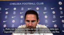 """Lampard al giornalista: """"Willian e Pedro? Grazie per avermeli ricordati..."""""""