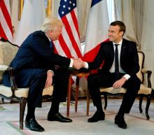 'Knuckles turning white': Macron is a match for the Trump power handshake