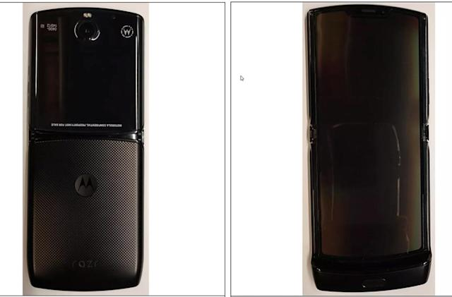 Motorola's foldable display RAZR leaks ahead of today's launch