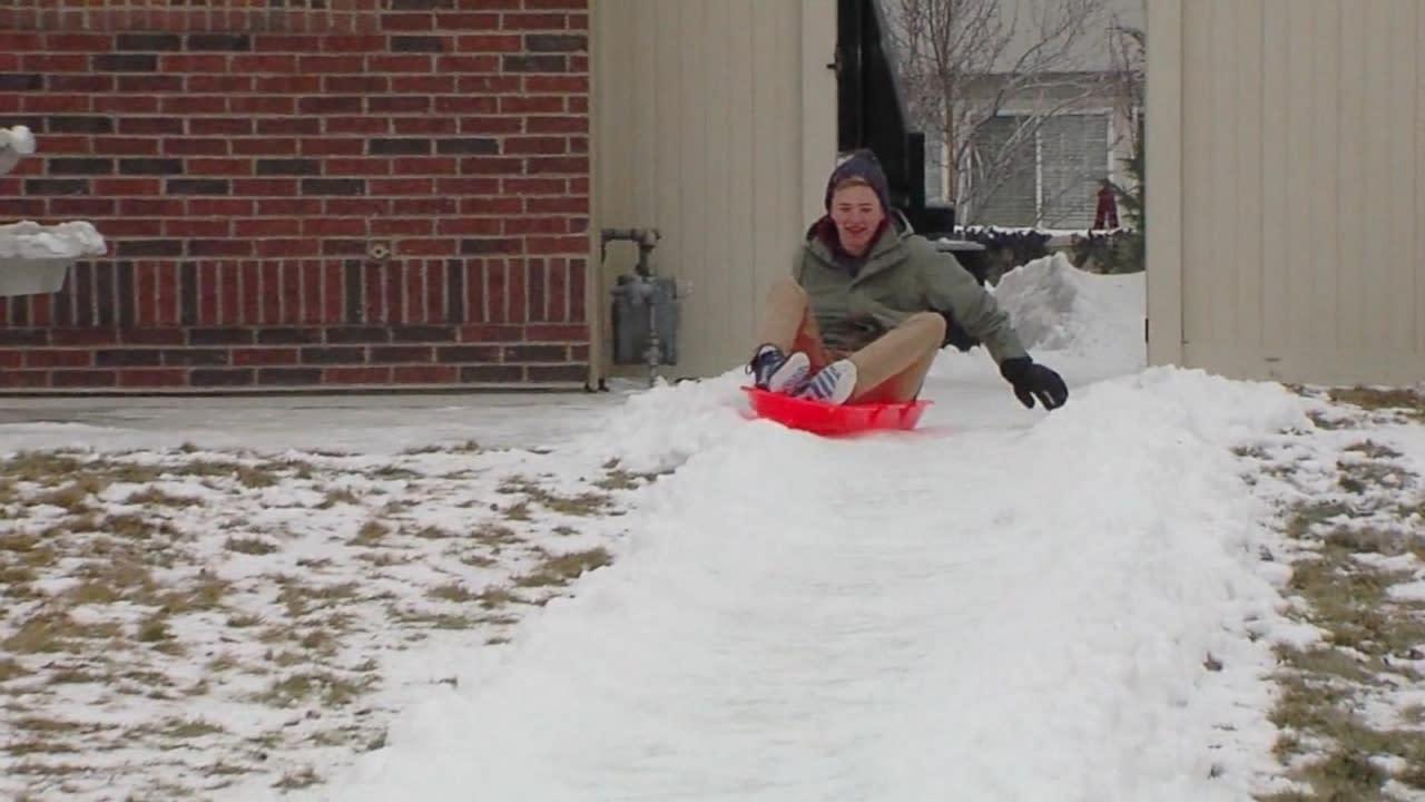 utah father creates kid powered luge run in backyard video