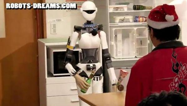 Homemade robot has boring name, but likes to party