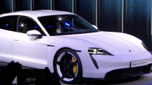 Porsche Taycan revealed as carmaker challenges Tesla in electric sports car race