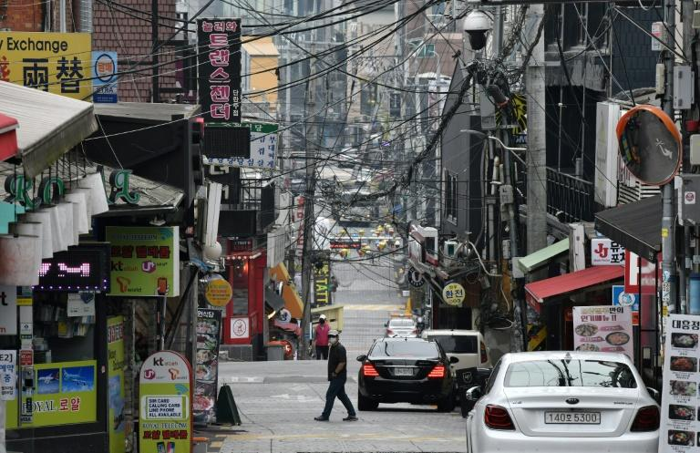 Seoul authorities are urging everyone who visited a nightlife district in the city over a two-week period to get tested (AFP Photo/Jung Yeon-je)