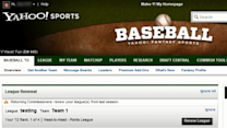 Renewing Last Year's Fantasy Baseball League