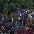 Migrants Break Through Fence at Guatemala Border
