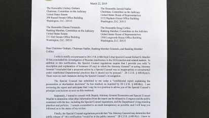 Full text of Barr's letter to Congress on Mueller report