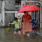 Typhoon In-fa hits China following flooding chaos