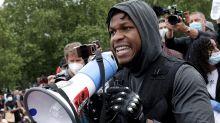 Star Wars actor breaks down in tears during protest speech