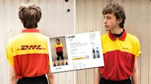 'Vintage' DHL uniforms are being sold online for £20