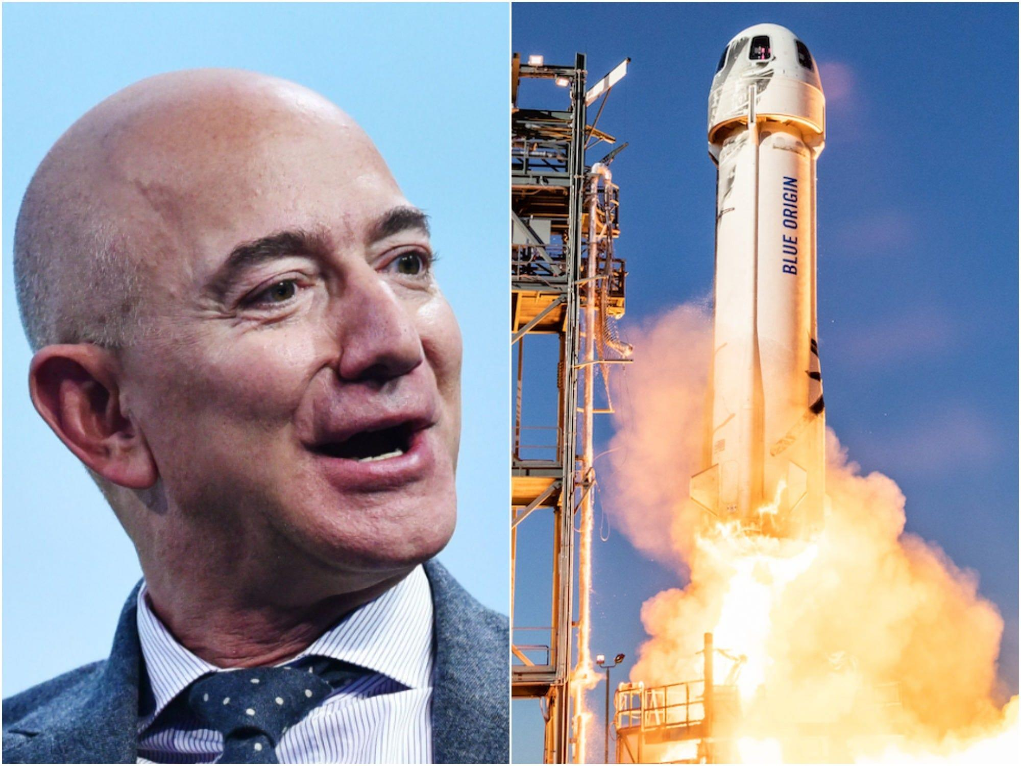 More than 41,000 people have signed petitions to stop Jeff Bezos from returning to Earth after his trip to space next month - Yahoo! Voices
