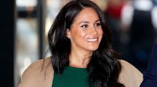 Shop Meghan Markle's toffee-coloured Preen by Thornton Bregazzi dress