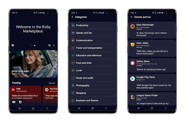 Samsung's Bixby Marketplace launches in the US and South Korea