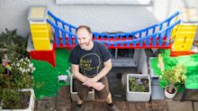 Coronavirus: Father builds Duplo train set through home to keep sons entertained during lockdown