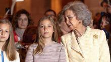 Leonor et Sofía d'Espagne cruelles avec leur grand-mère ?