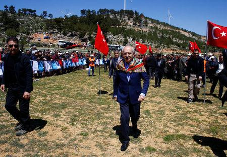 Kemal Kilicdaroglu, leader of Turkey's main opposition CHP, arrives at a nomads congress near the southern town of Silifke in Mersin province