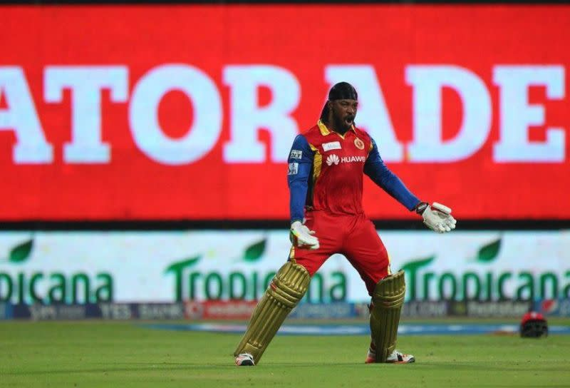 Gayle animated after hitting a ton