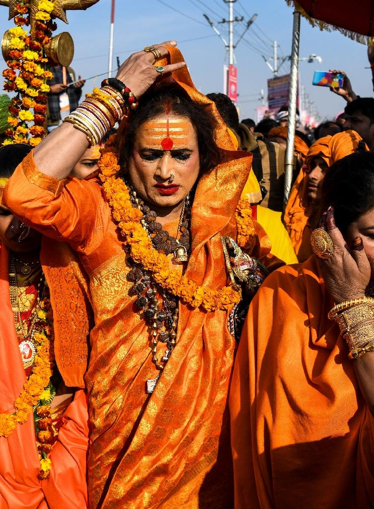 Laxmi Narayan Tripathi has for decades fought to put her transgender community on a par with the rest of society (AFP Photo/CHANDAN KHANNA)