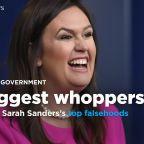 WH press secretary Sarah Sanders's 5 biggest whoppers