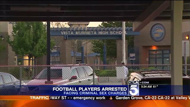 Murrieta High School Football Players Charged With Sex Crimes