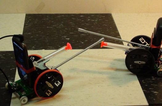 Simple DIY cellbot ditches Arduino, jousts poorly (video)