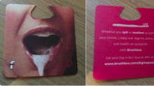 University newcomers given a 'sexist' and suggestive toothbrush ad in their orientation boxes