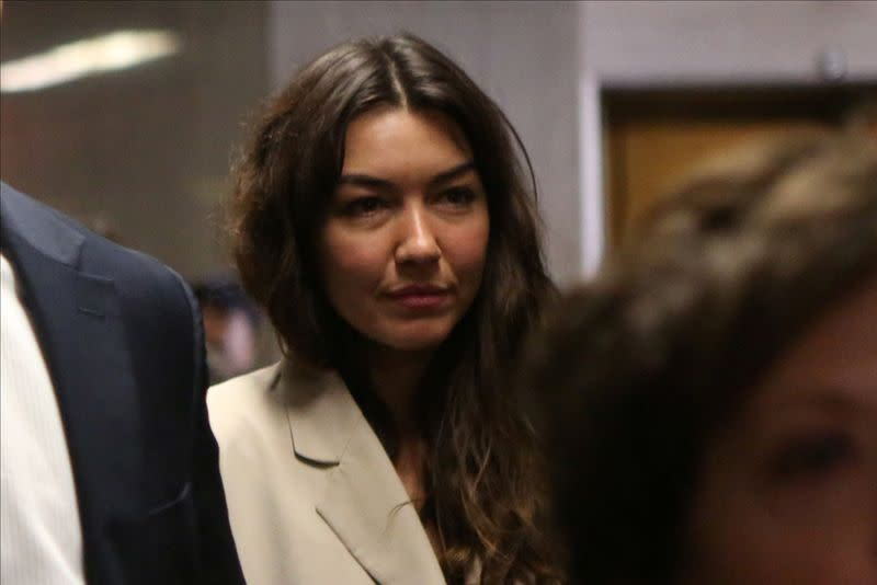 Mimi Haleyi arrives to testify against Harvey Weinstein at the Criminal Court during Weinstein's sexual assault trial in the Manhattan borough of New York