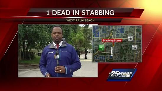 Man killed, 2 others stabbed on West Palm Beach street