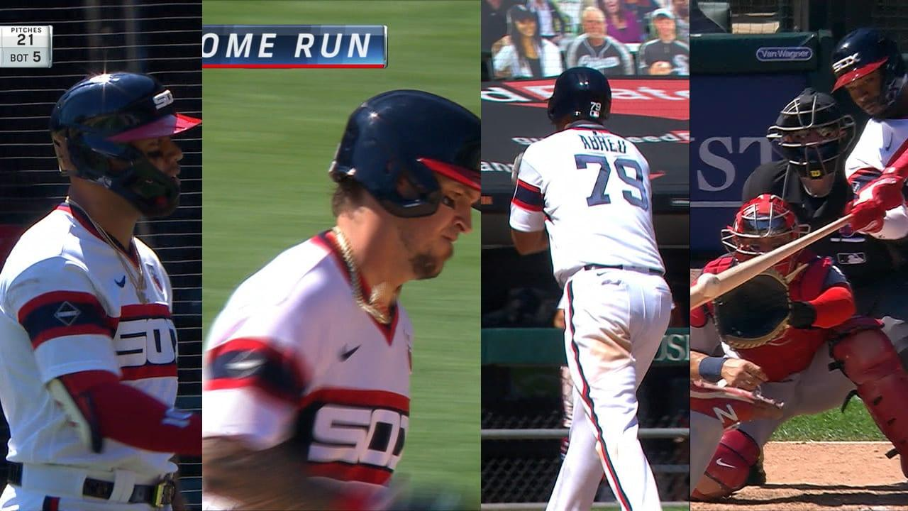 White Sox hit 4 straight homers