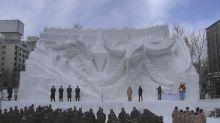 【有片】「札幌雪まつり」大雪像開幕 《Final Fantasy XIV》「白銀の決戦」