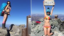 Woman who climbs mountains in bikinis freezes to death after falling