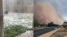Severe Hail And Dust Storms Sweep Across Australia Amid Bushfire Crisis