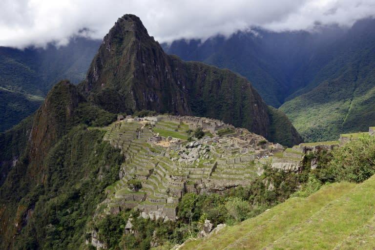 Machu Picchu, the ancient Inca city high in Peru's southeastern Andes