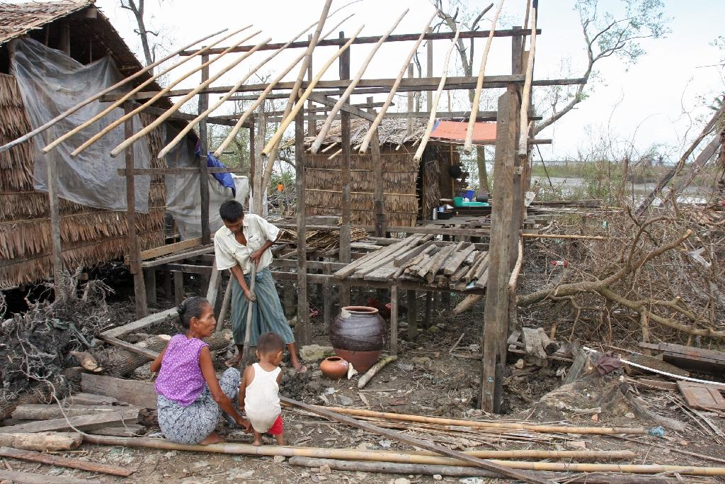 Myanmar's Cyclone Nargis in 2008, which claimed some 140,000 lives, caused some four billion dollars in damage, according to the UN (AFP Photo/Khin Maung Win)