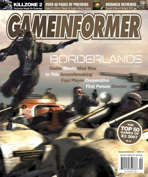 Gearbox's Borderlands revealed on Game Informer cover