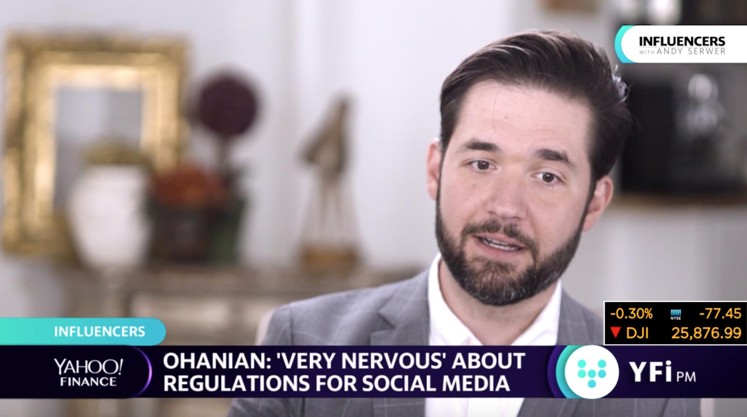 Reddit co-founder 'very nervous' about regulations for social media