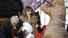 Little girl meets Melania Trump dressed in FLOTUS's controversial Hurricane Harvey look